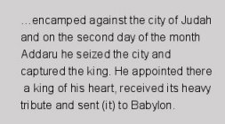 Translation of part of the Babylonian Chronicle