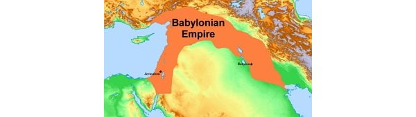 Map showing the Babylonian Empire