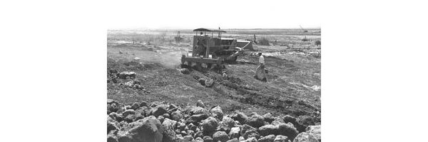 Desolate land being prepared for Agricultural use at Kibbutz Gonan