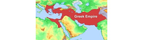 Map showing the Greek Empire