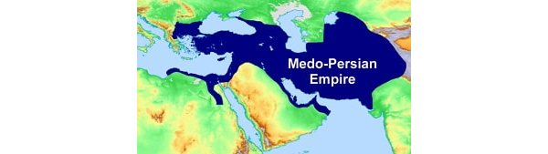Map showing the Medo-Persian Empire