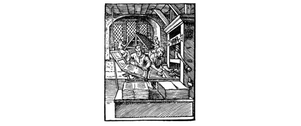 An early printing press