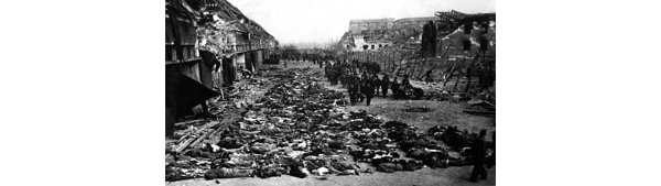 Corpses discovered on the liberation of Nazi concentration camps