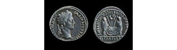 Silver denarius of Augustus