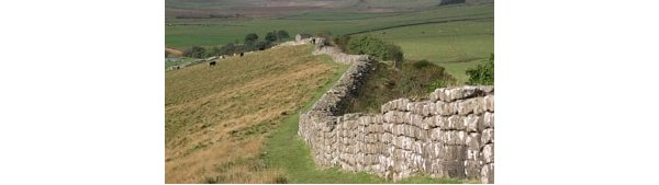 Hadrians Wall - which went across the north of England