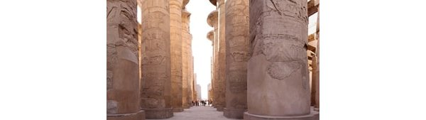 Ruins of the temple at Karnak - note the size of the people