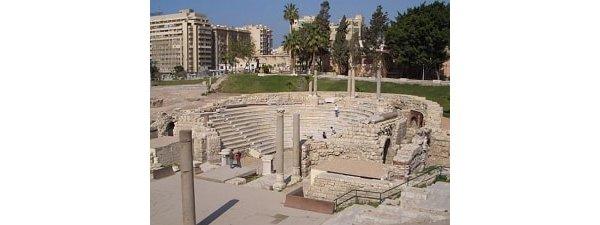 Ruins of a Roman Amphitheatre in Alexandria