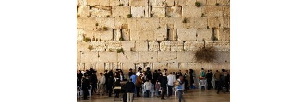 Jews at the Western Wall in Jerusalem